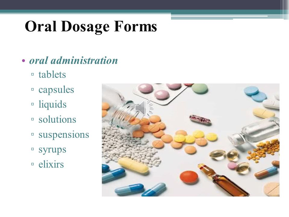 Oral Dosage 29