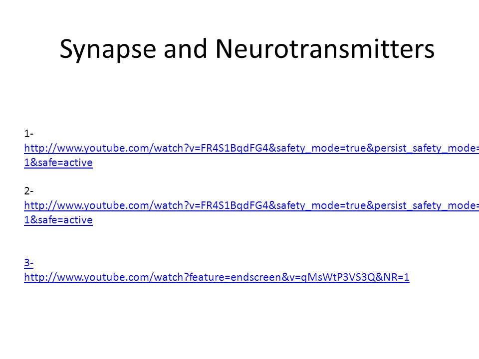Synapse and Neurotransmitters