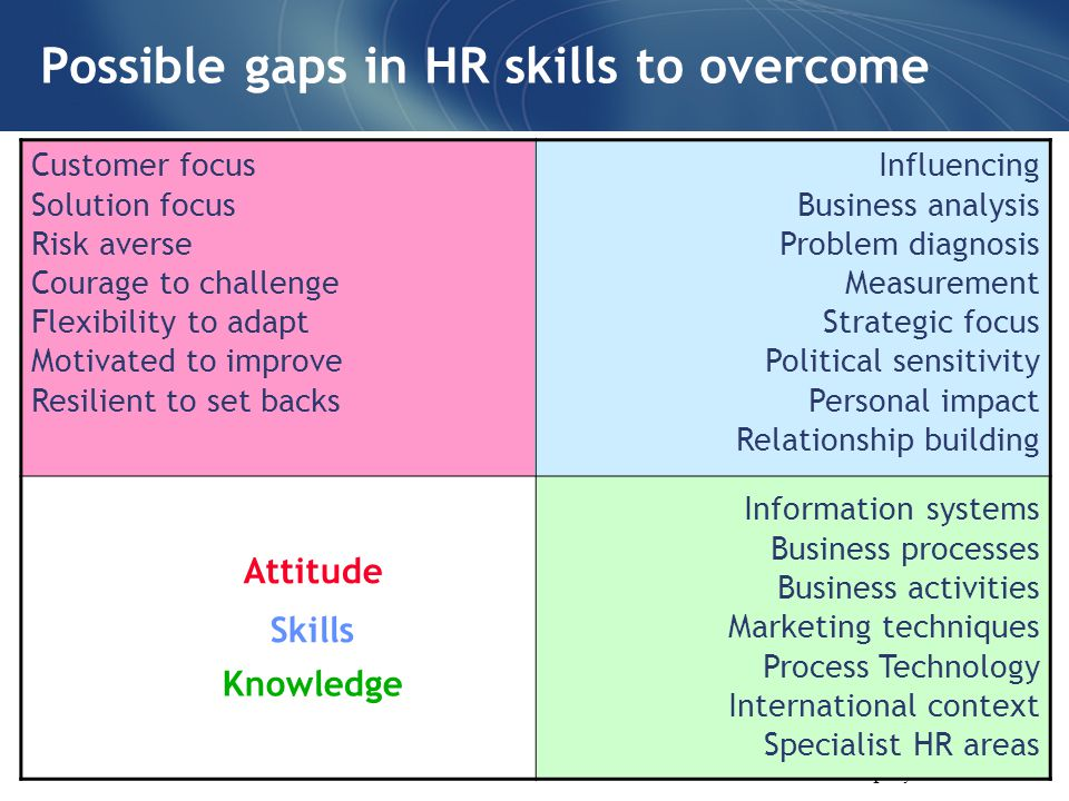 Business plan focus areas for hr
