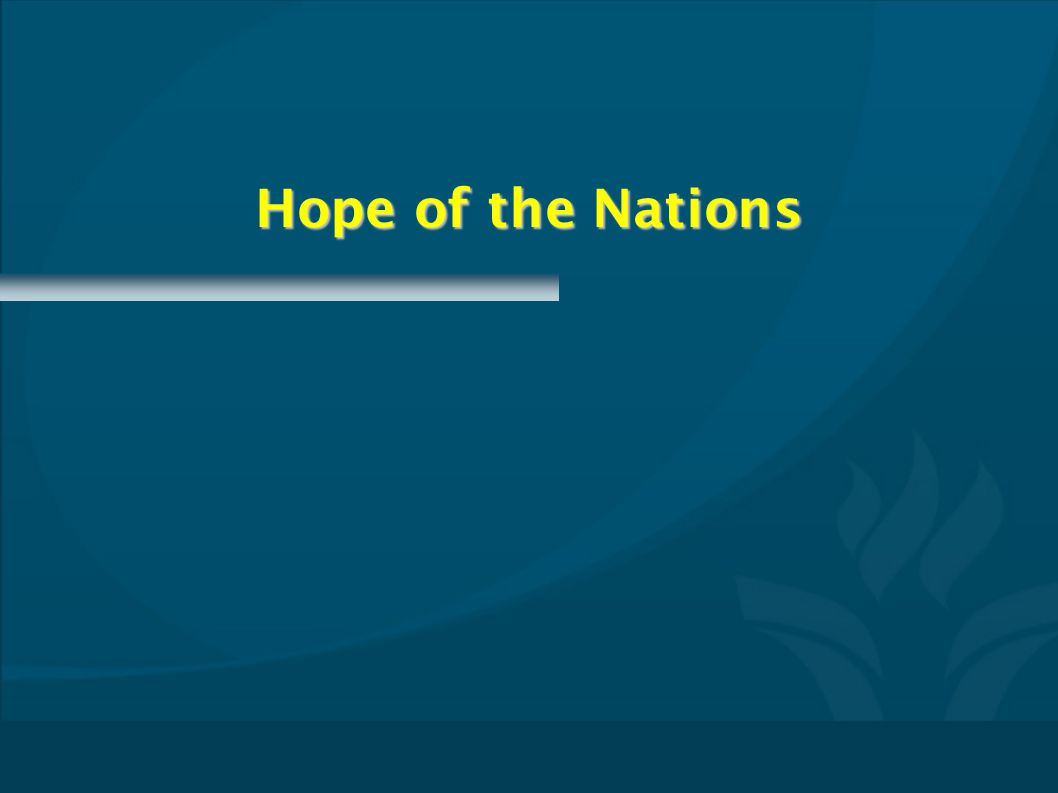 Hope of the Nations CMPTxxxx