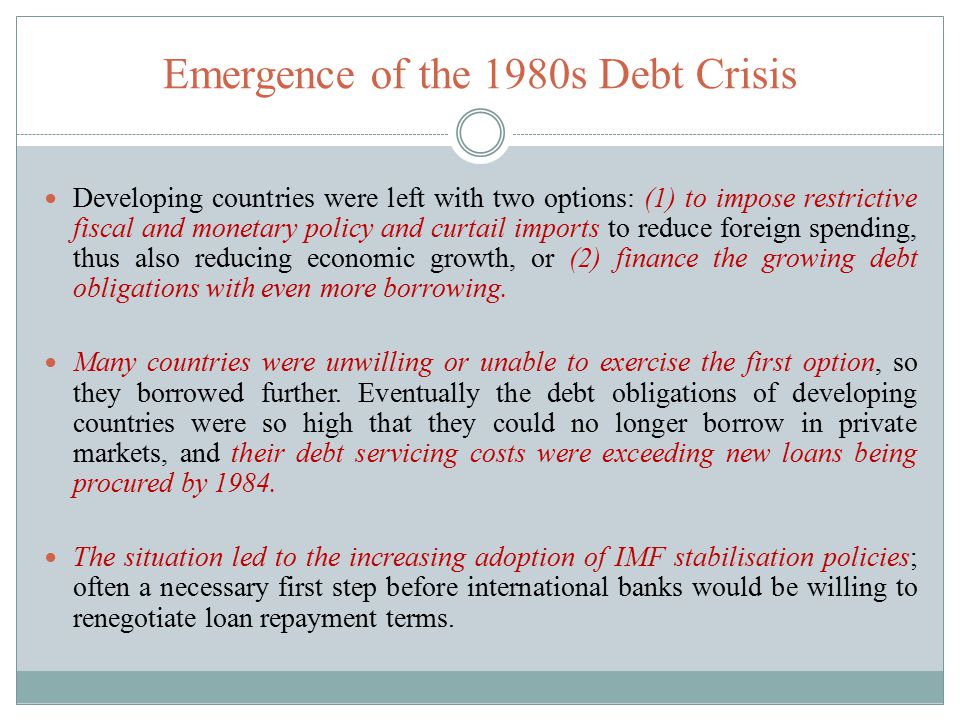 Causes of the Debt Crisis