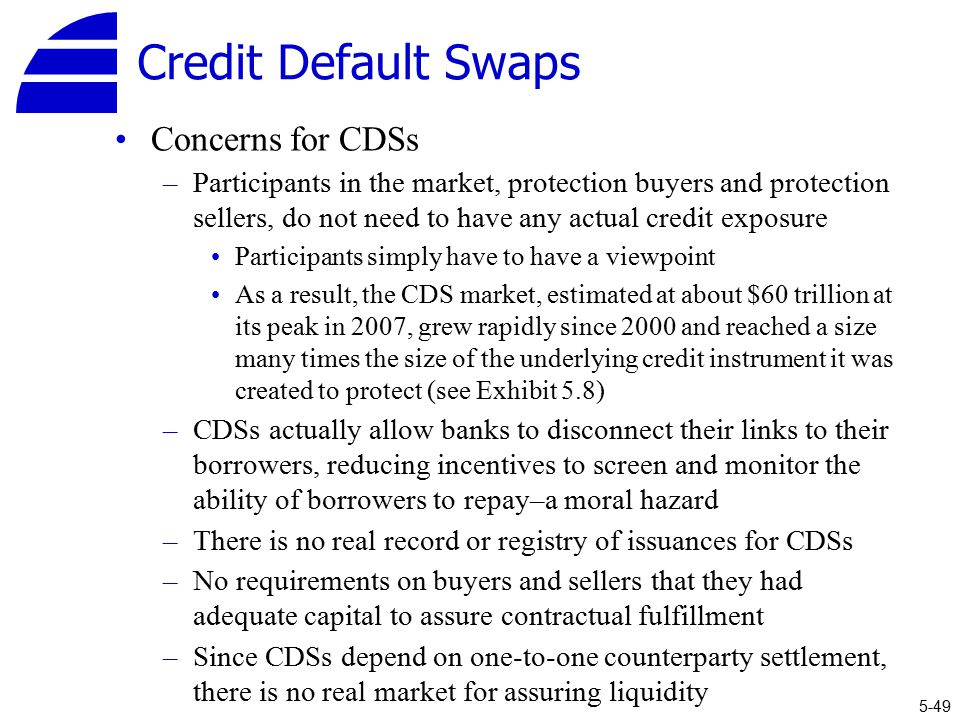 credit default swap counterparty and systematic A credit default swap is a contract that provides protection against credit loss on an underlying reference entity as a result of a specific credit event.