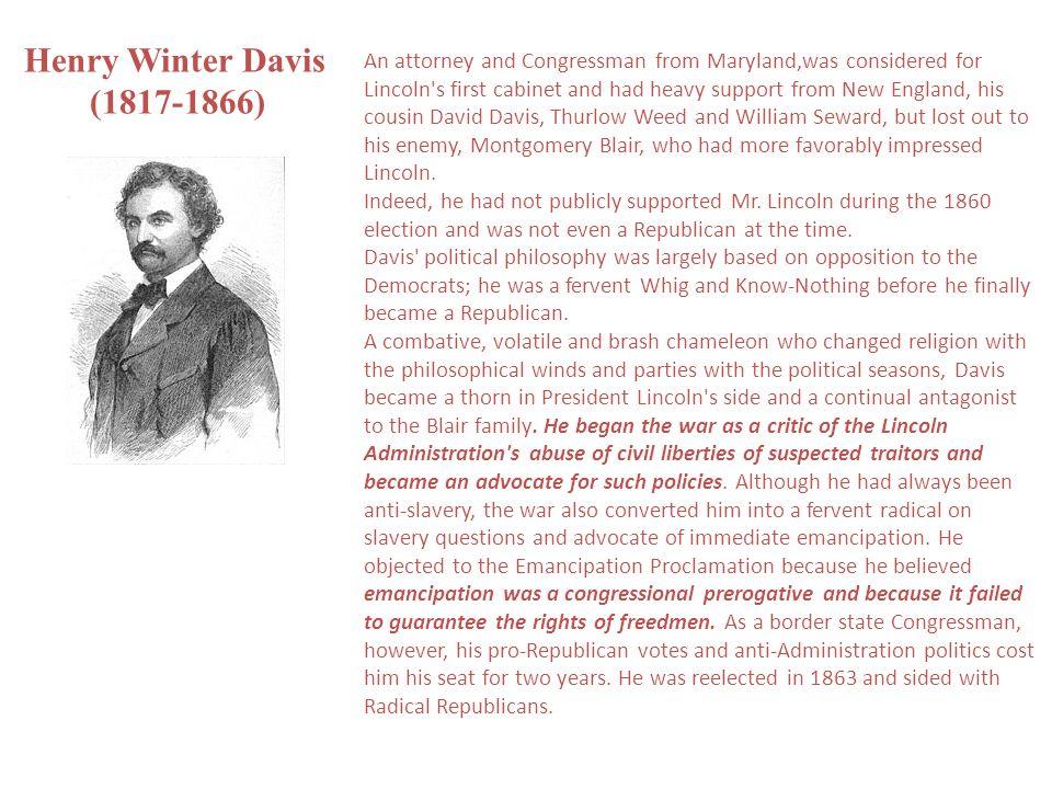 Henry Winter Davis (1817-1866)