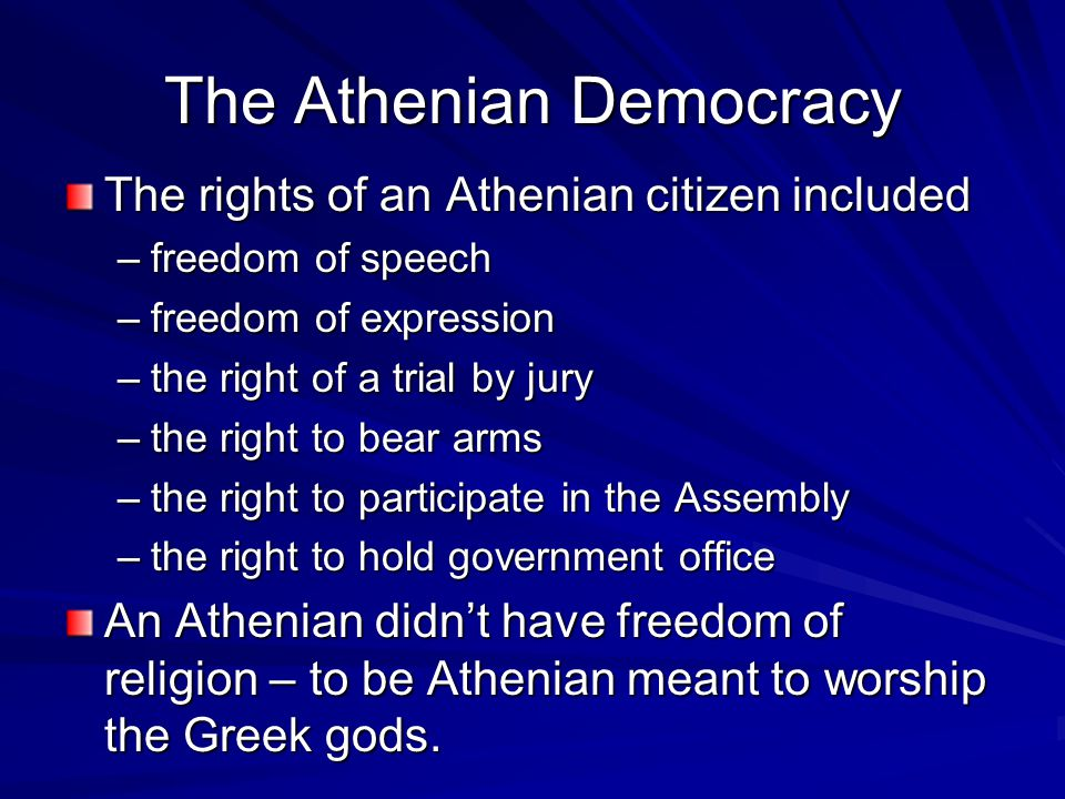 an introduction to the history of athenian jury Athenian democracy developed around the fifth century bc in the greek city-state  (known as a  athens was not the only polis in ancient greece that instituted a  democratic  this slump was permanent, due to the introduction of a stricter  definition of  jurors were required to be under oath, which was not required for .
