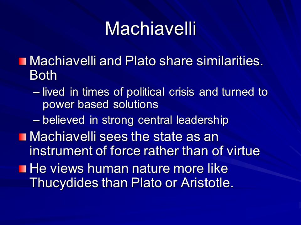Machiavelli Views Of Human Nature