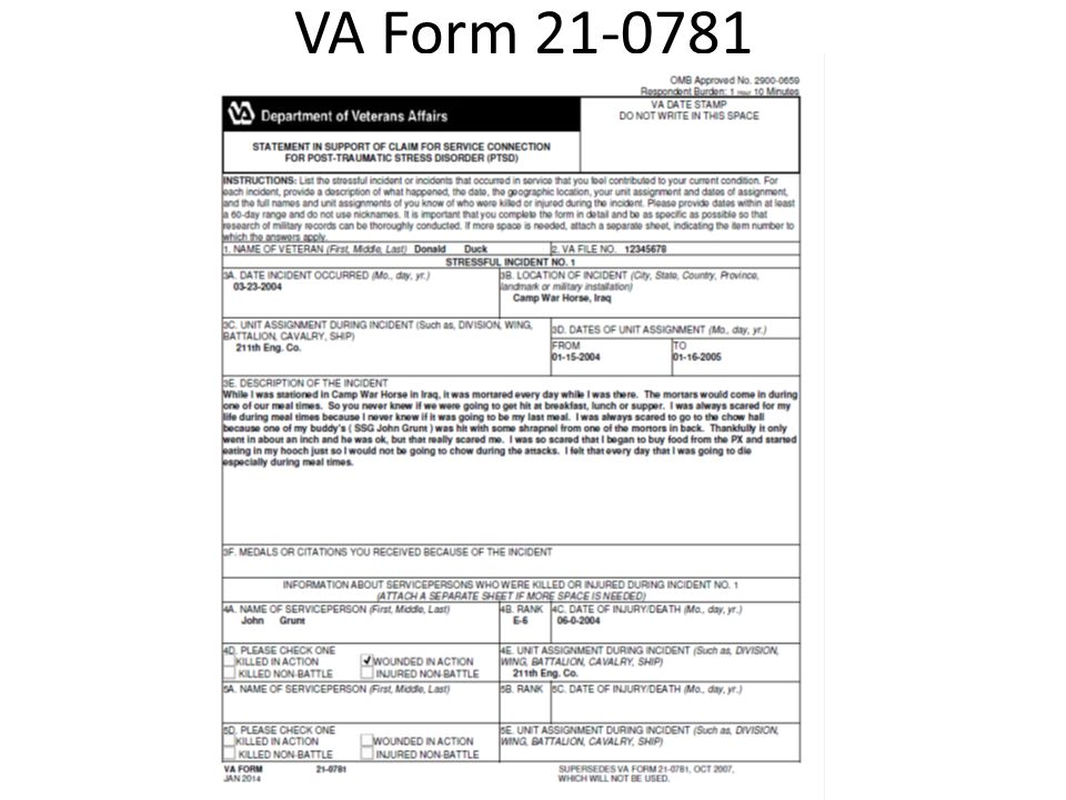 va form 0781 - nomadconvoy.co