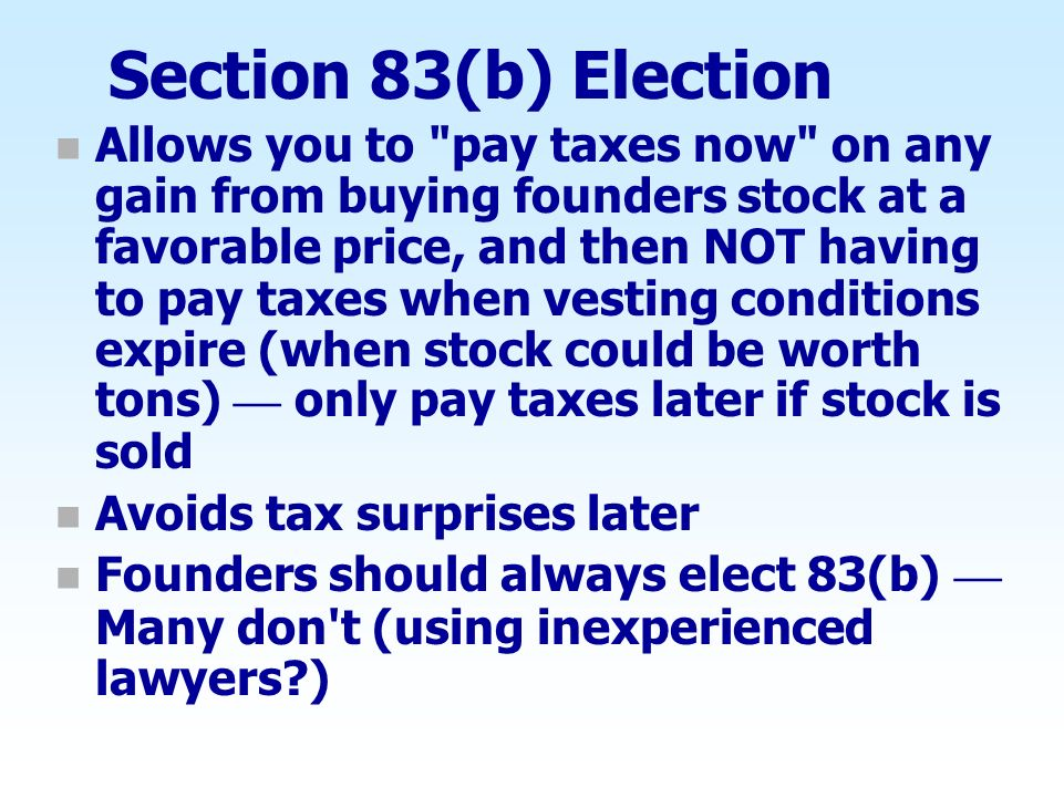 Section 83(b) Election