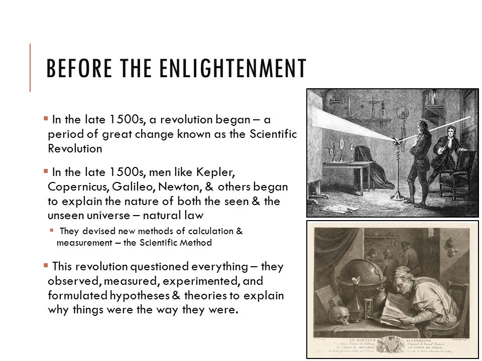 Enlightenment alter perceptions of natural world and religion