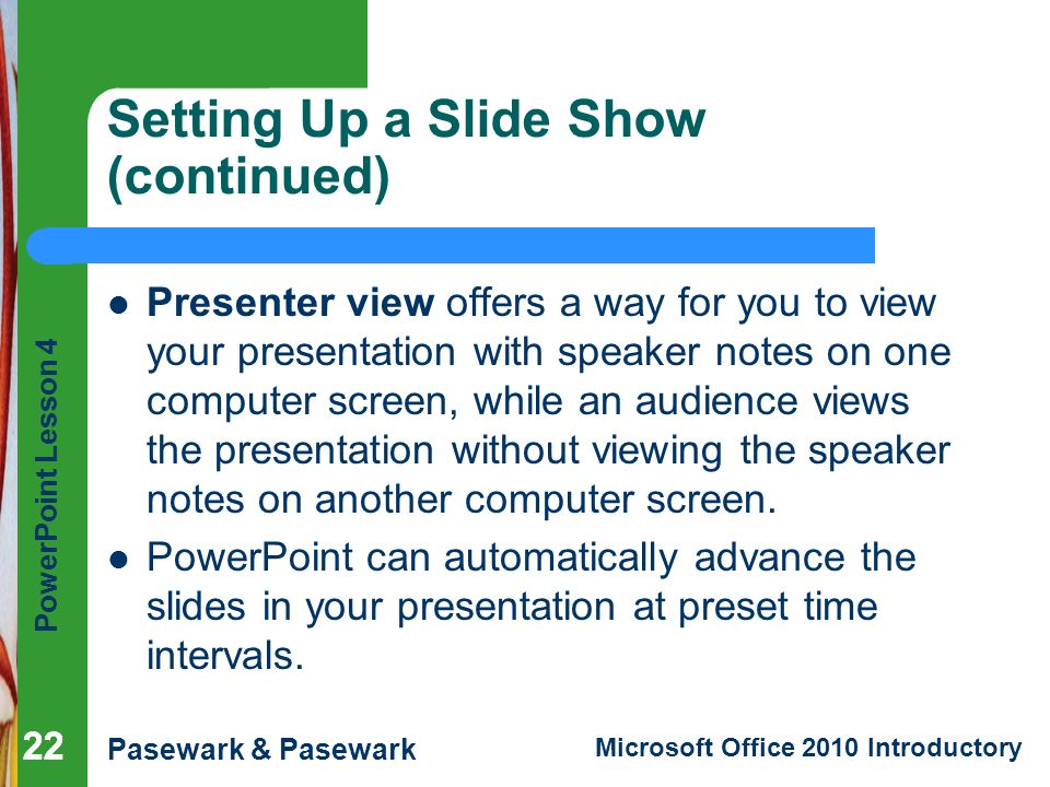 how to time slideshow in powerpoint to play automatically