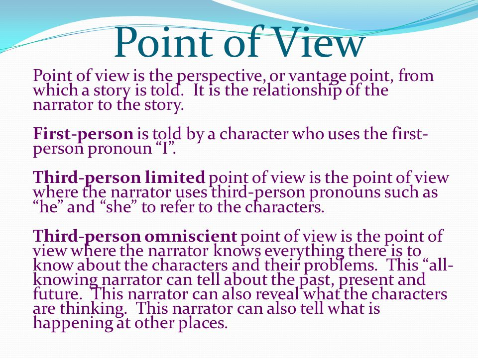 vantage point descriptive essay