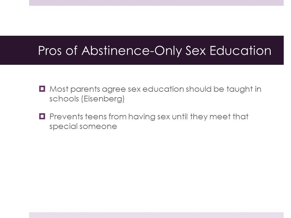 Pros Of Sex Education 111