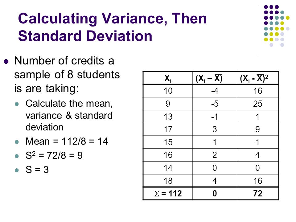 notes on standard deviation 2 be able to calculate the standard deviation of variable  term is more similar  with the word mean as used in music for the middle note than with these other.