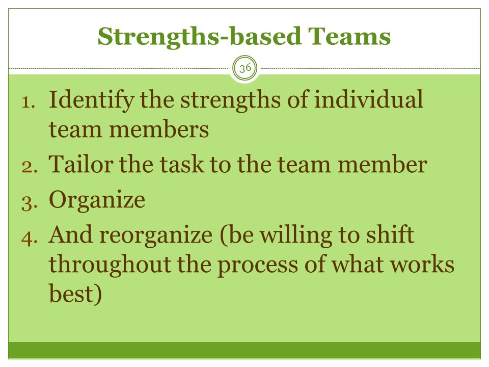 team based and individual based work The aim of this paper is to critique and review the role of individuals and teams in idea generation as part of the overall organisational creativity and innovation process key objectives are to determine organisational development needs and research agendas in this area organisations continue to emphasise the need for.