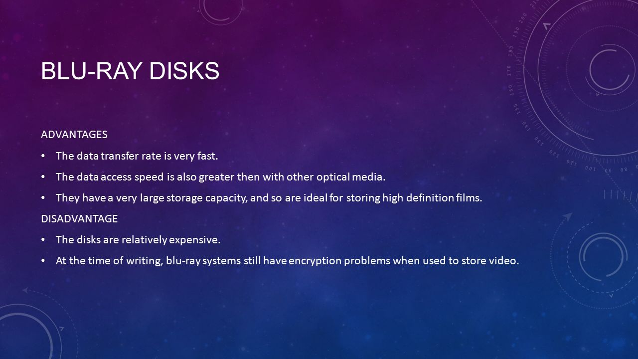 blu ray disc advantages and disadvantages 1080p is resolution standard for blu-ray discs  there are a lot of advantages to  these types of loudspeakers, as well as many disadvantages continue.