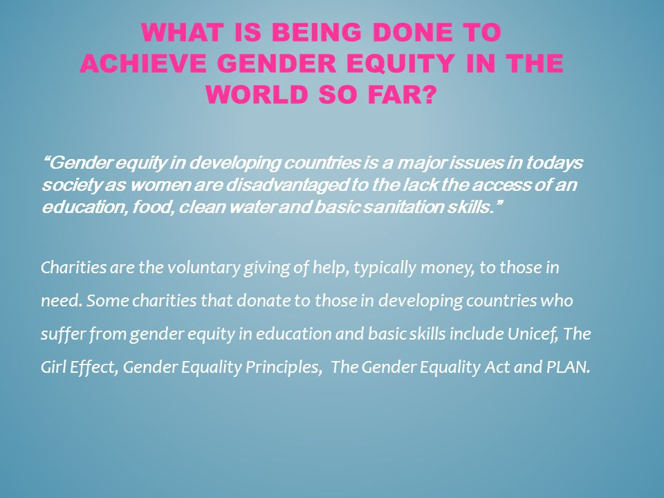 how to achieve equality in society