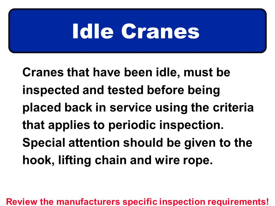 CRANES, SLINGS, & YOU They can do a lot of work ppt video online ...