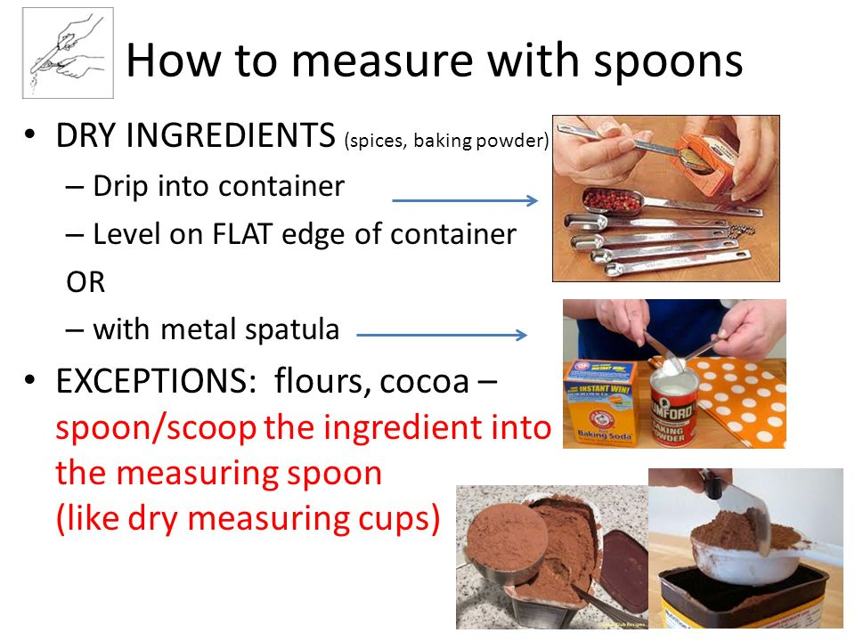 How to measure with spoons