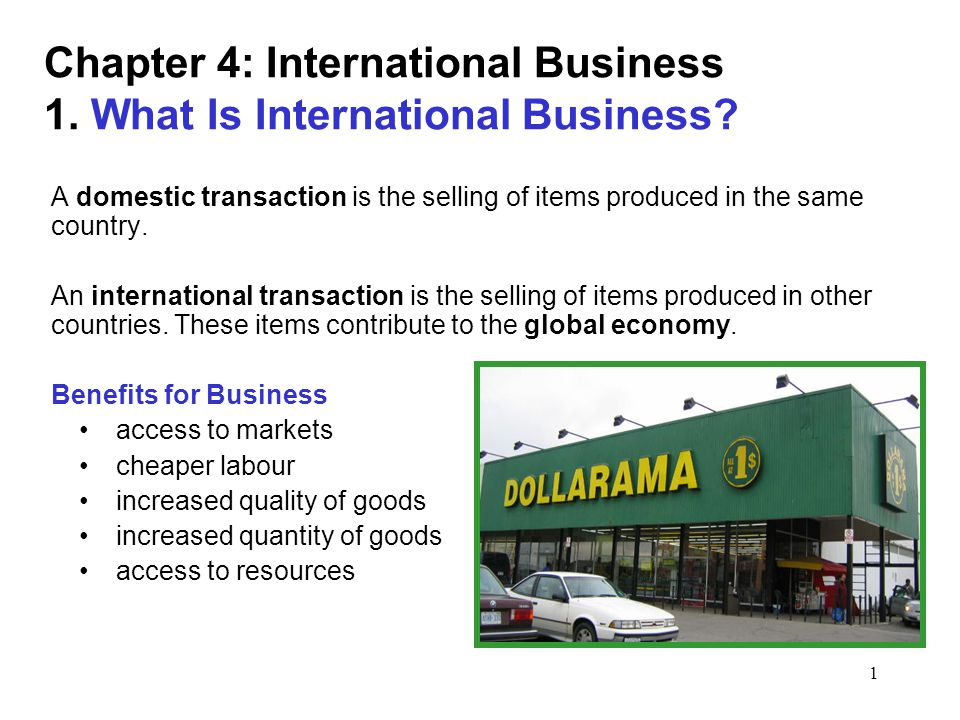 chapter 2 international business Part ii discusses the formation, financing and taxation of business ventures in  foreign  chapter 2 the international monetary and financial frameworks.