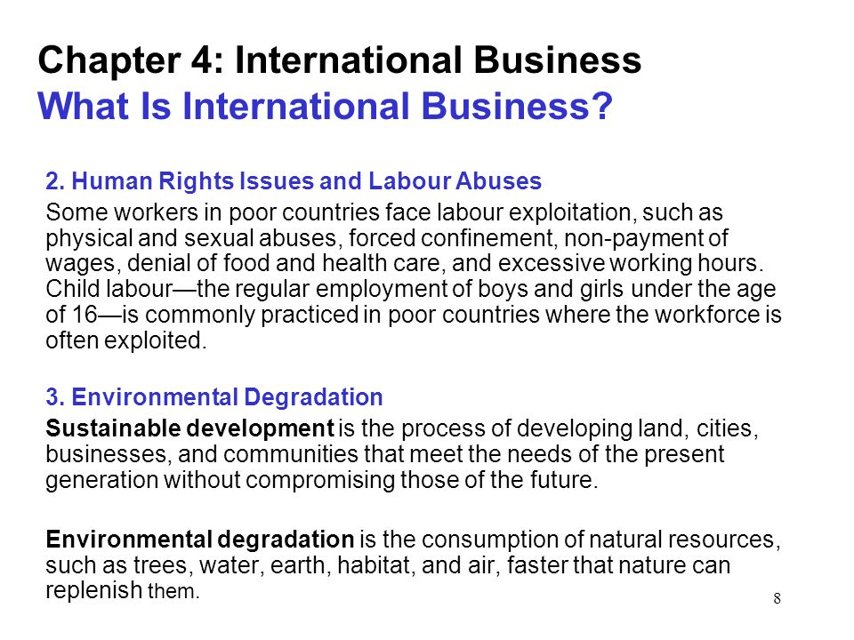 exploitation of workers causes and solutions Child labour essay is all about the causes and effects that are responsible for children to skip their primary education every nation supports right to education for every human, yet most of these nations were mentioned in the list of nations with child labor, but the good news is the it is gradually declining in the past few years.