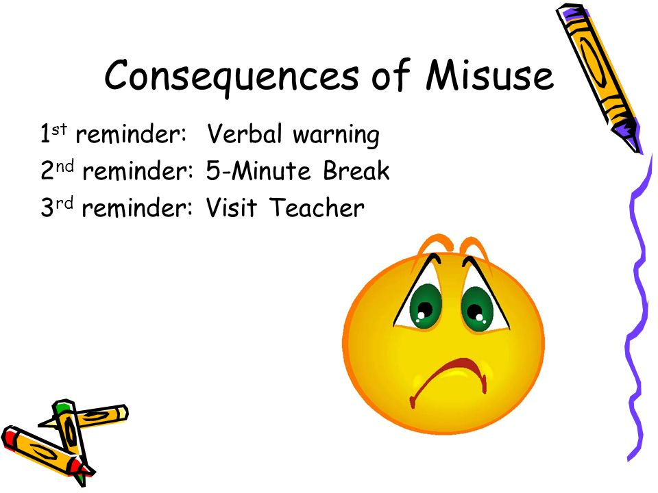 Consequences of Misuse