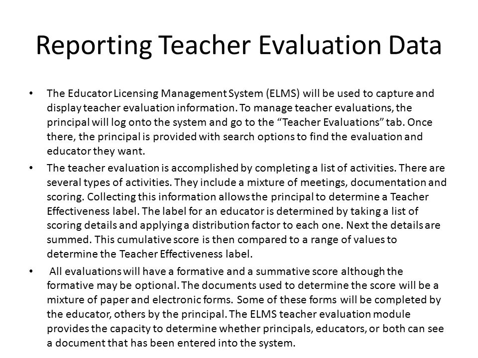 Mississippi Teacher/Principal Evaluation System - Ppt Download