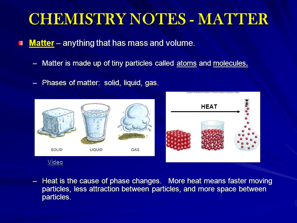 CHEMISTRY NOTES - MATTER - ppt video online download