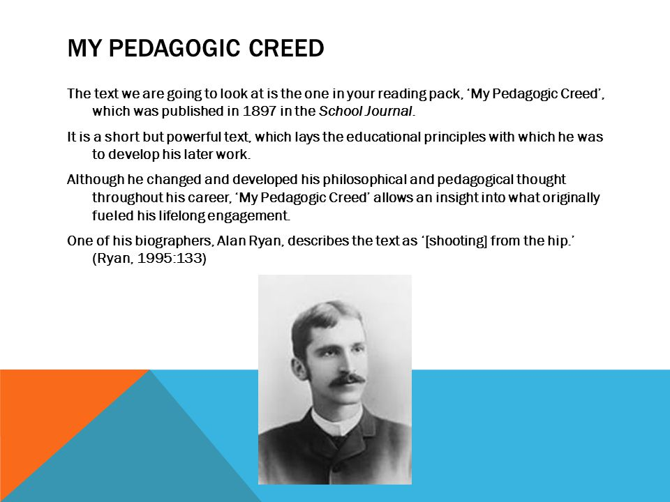 my pedagogic creed thesis