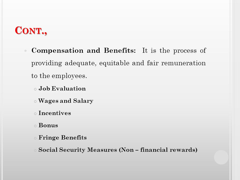 fair and equitable compensation Competitive, fair, and equitable compensation and benefits ← career development and training ← from mgmt 3329 at lsu.