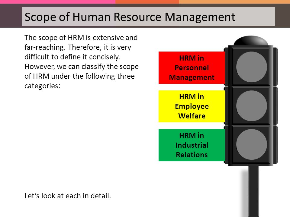 the broad scopes of human resources Human resource management in a project human resource management activities are often split between project management the scope of responsibility of.