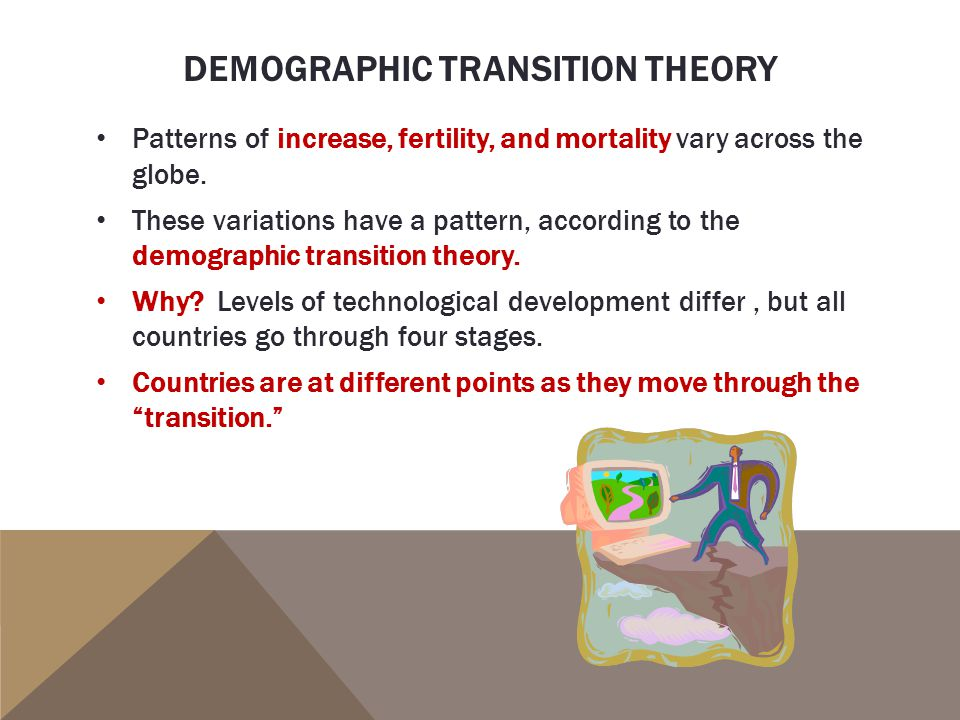 demographic transition theory This is post 1 of 6 in a series about the demographic transition model – a fundamental concept in population read more.