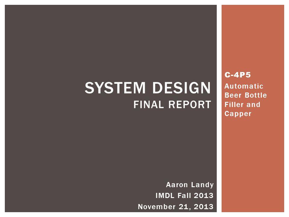 system design Final report