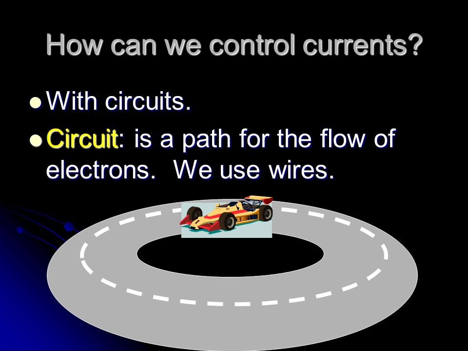 How can we control currents