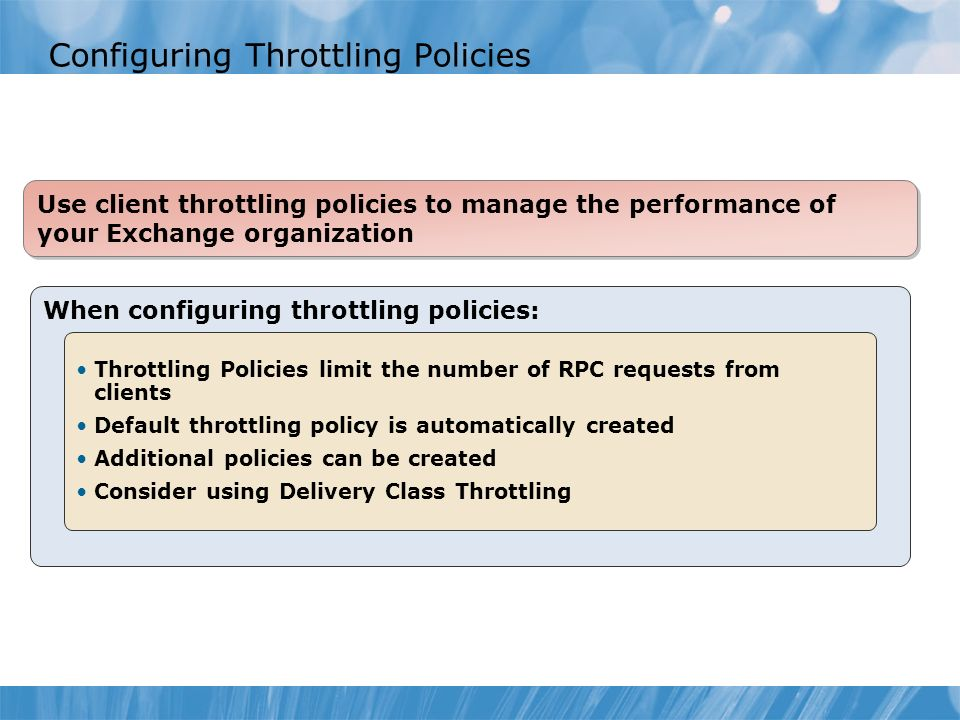 Configuring Throttling Policies