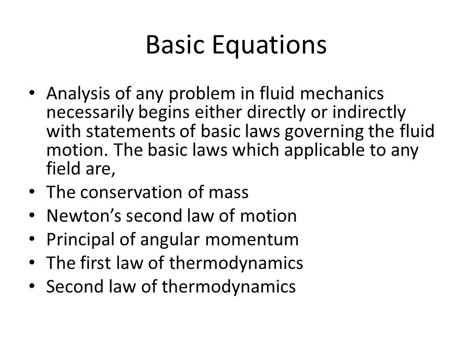Basic equations of fluid statics, Research paper Sample