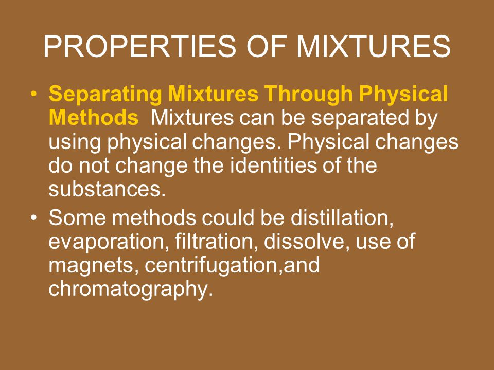 separating a mixture of compounds essay Compounds, mixtures and elements compounds, mixtures and elements paper homogeneous mixture table salt compound wood alcohol homogeneous mixture plutonium element water compound baking powder homogoneous mixture we will write a.