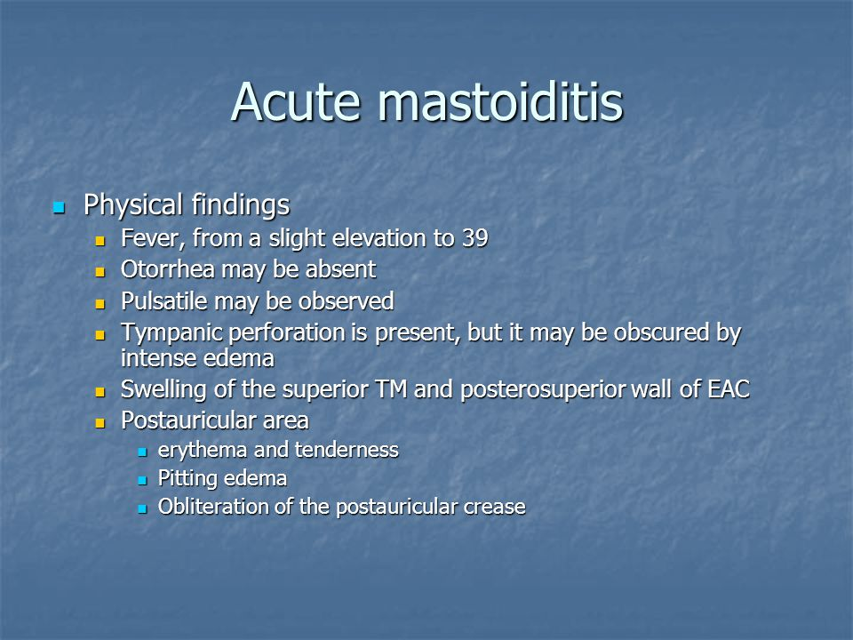 Acute Otitis Media And Mastoiditis Ppt Video Online Download