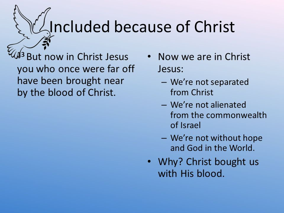 Included because of Christ