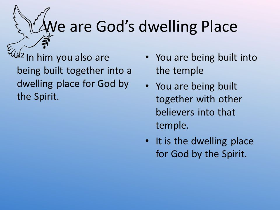 We are God's dwelling Place