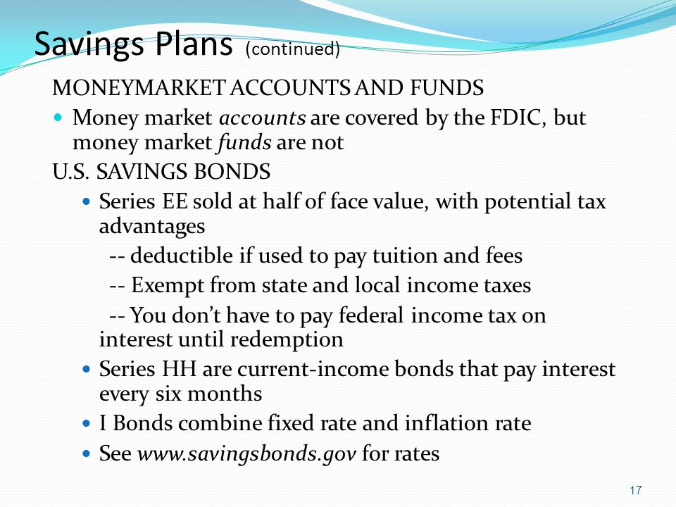Savings Plans (continued)