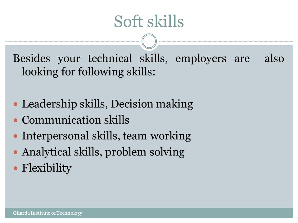 Important skills that employers are looking
