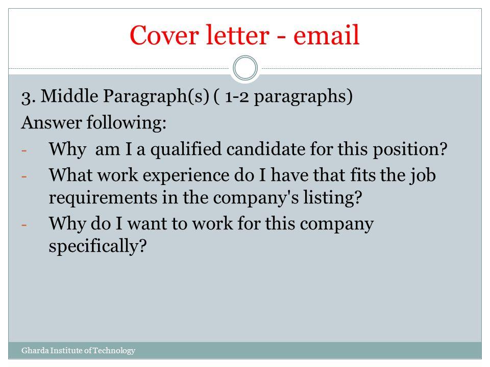 Cover letter 3 paragraphs