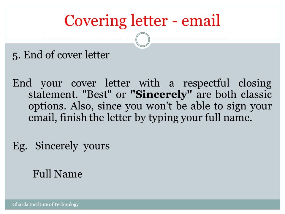 job application cover letter closing statements 3-step process to write an effective and eye-catching cover letter by the cover letter as part of a job application statement and your closing.
