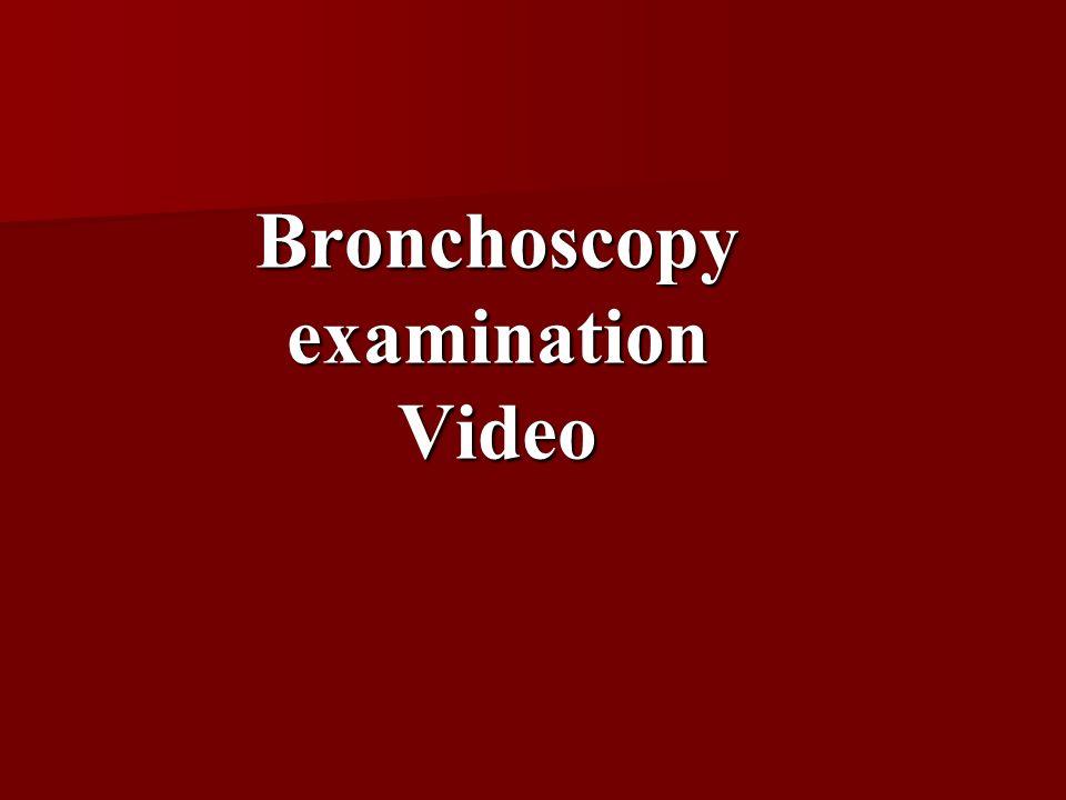 Bronchoscopy examination Video