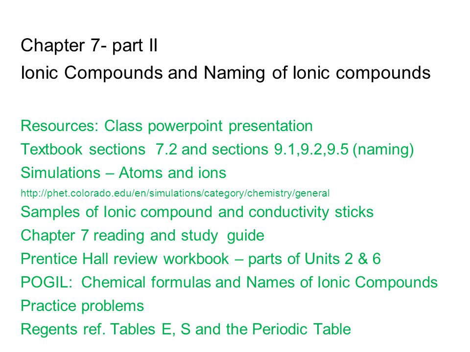 Ionic Compounds and Naming of Ionic compounds - ppt video ...