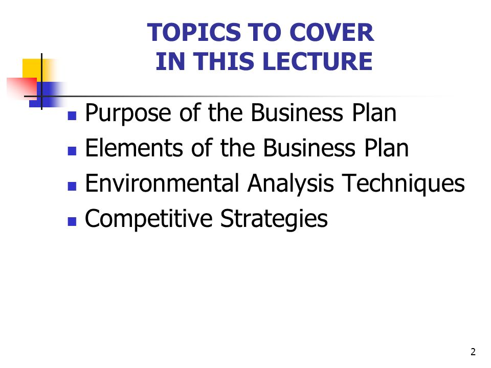 Overview Of The Business Plan  Ppt Video Online Download