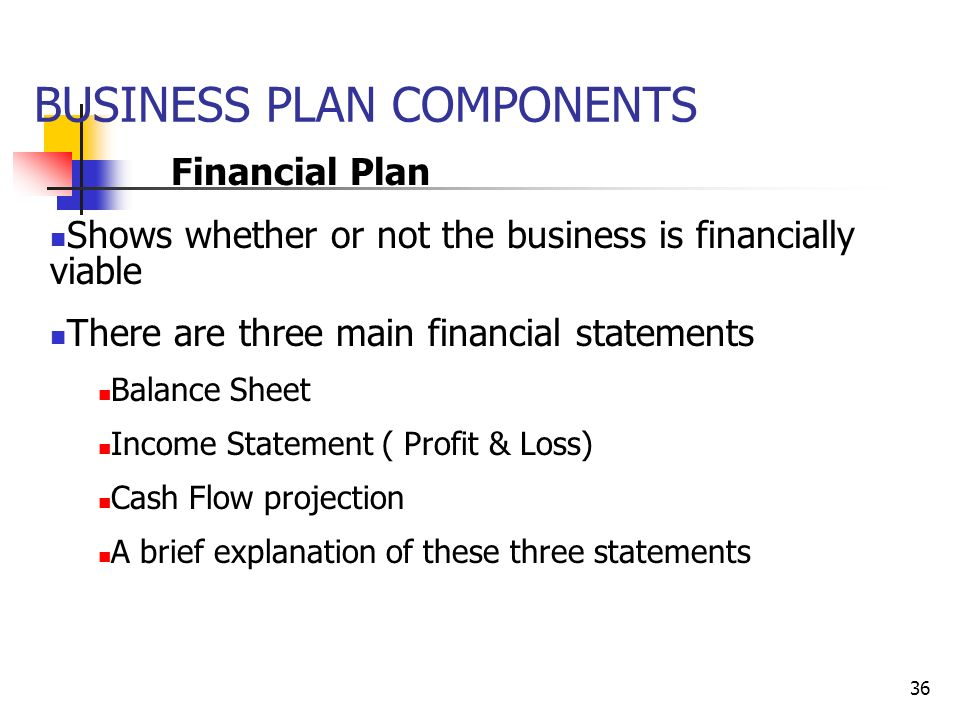 major components of business plan