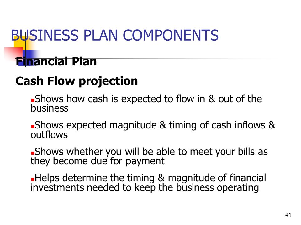 Write Cash Flow Business Plan