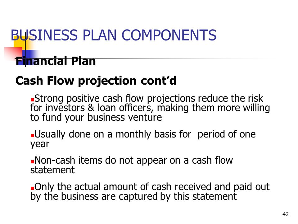 how to do the financial part of a business plan