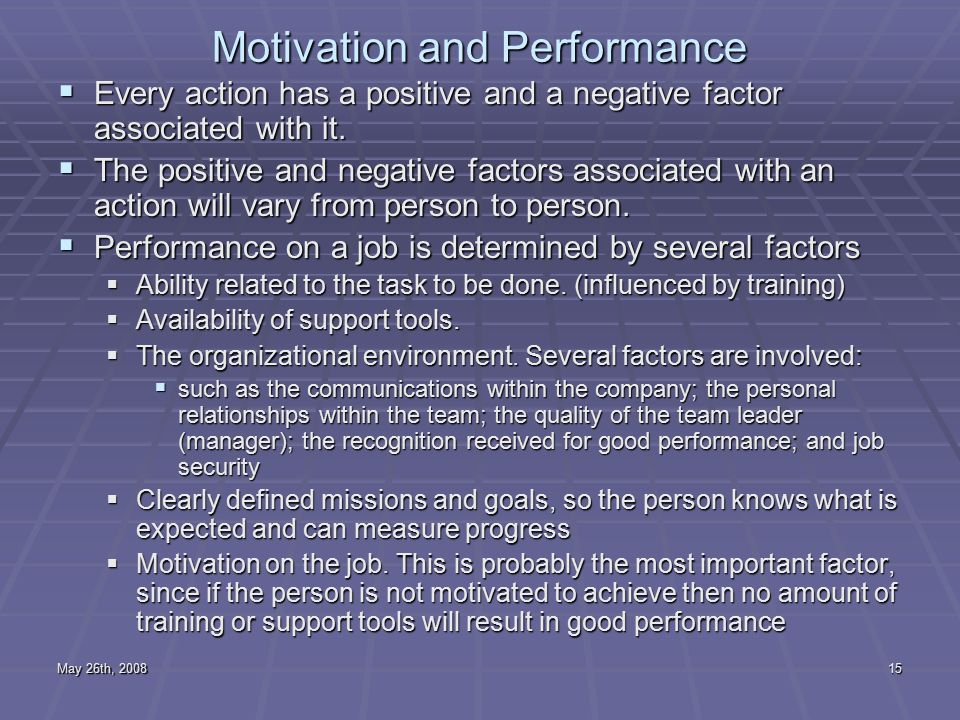 performance quality quantity and work motivation Divides work motivation possessed by every  understanding of performance as performance, work  work output either its quality or quantity attained by.