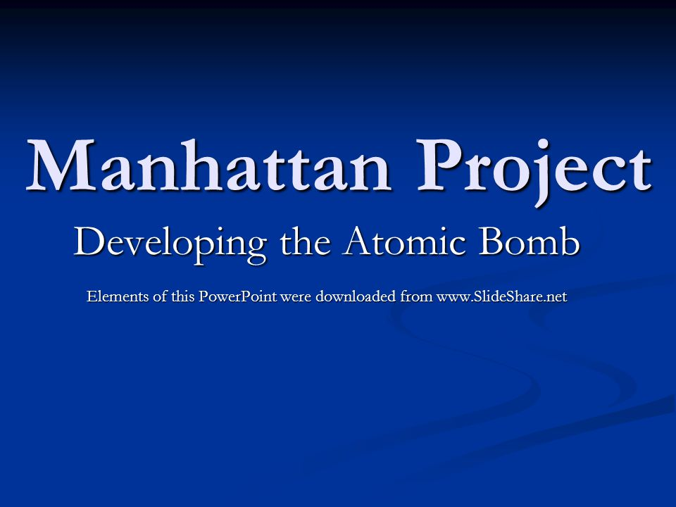 the development and usage of the first atomic bomb On the development and use of atomic energy, and from may 1, 1943, until my successfully detonated the first atomic bomb this wasto be done at the alamo.